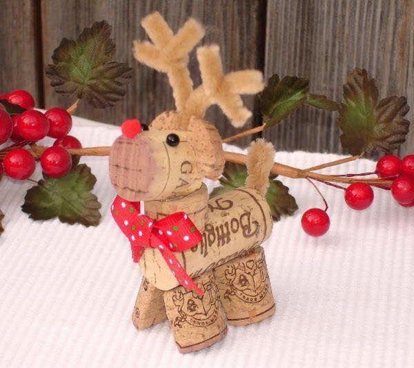 Χριστουγεννιάτικες διακοσμήσεις από πώματα φελλού15