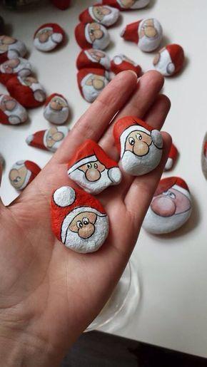 Χριστουγεννιάτικη ζωγραφική σε πέτρες και βότσαλα23