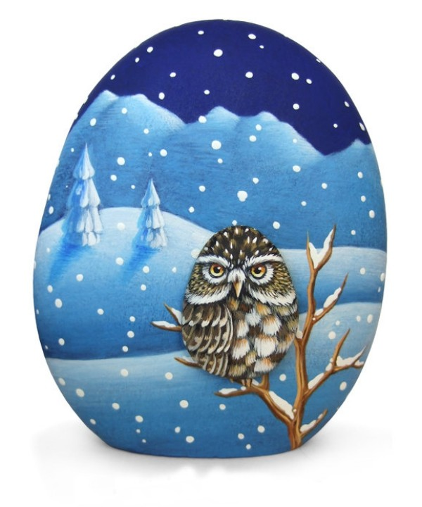 Χριστουγεννιάτικη ζωγραφική σε πέτρες και βότσαλα25