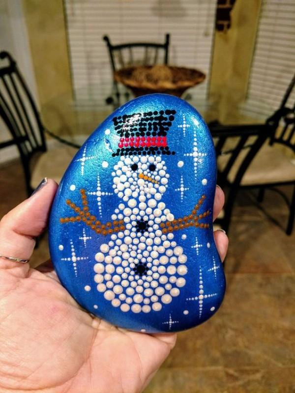 Χριστουγεννιάτικη ζωγραφική σε πέτρες και βότσαλα27