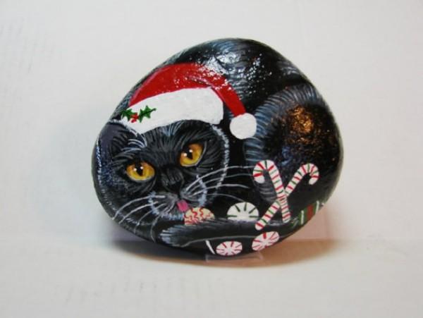 Χριστουγεννιάτικη ζωγραφική σε πέτρες και βότσαλα31