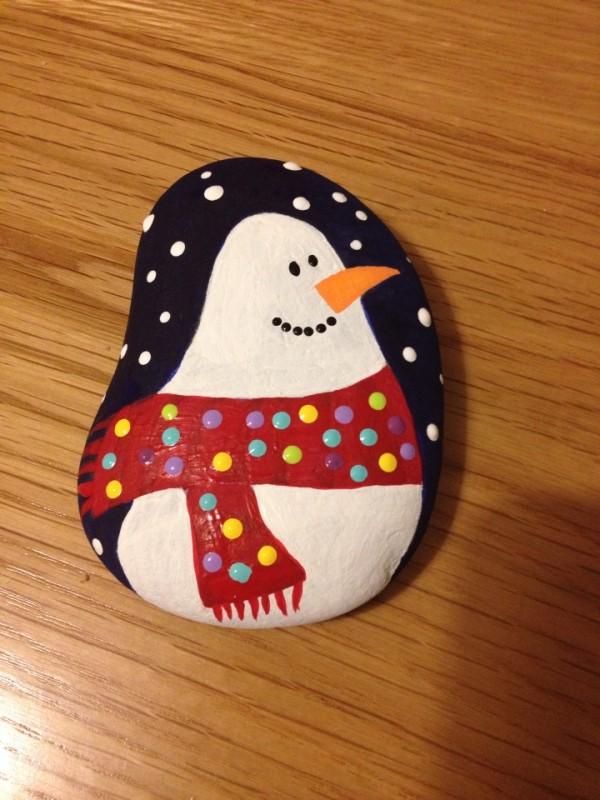 Χριστουγεννιάτικη ζωγραφική σε πέτρες και βότσαλα40