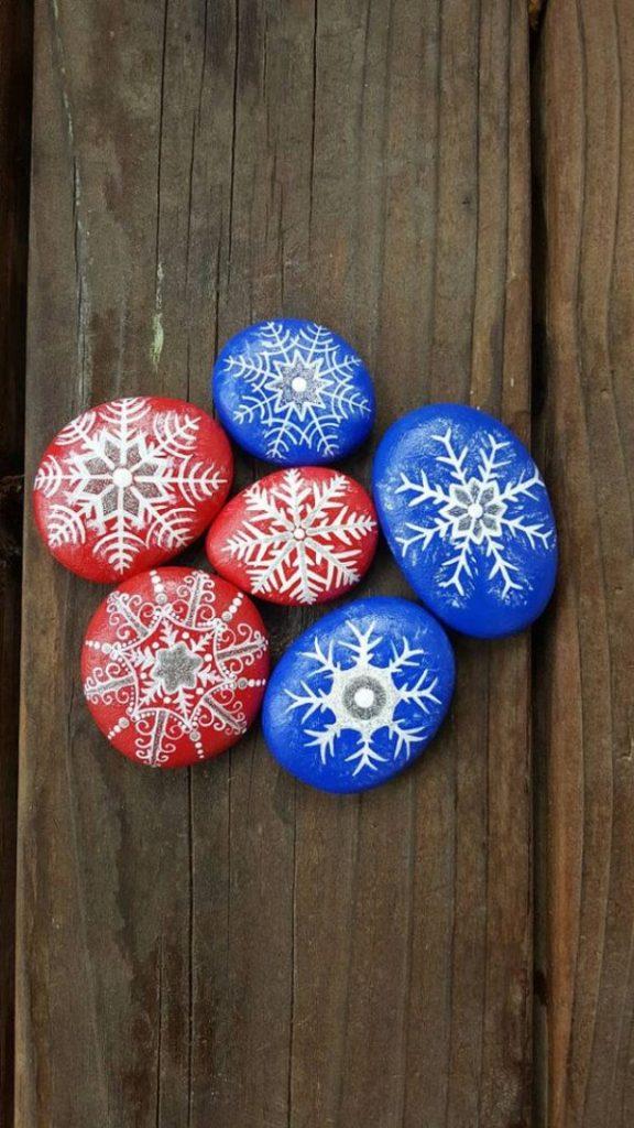 Χριστουγεννιάτικη ζωγραφική σε πέτρες και βότσαλα42