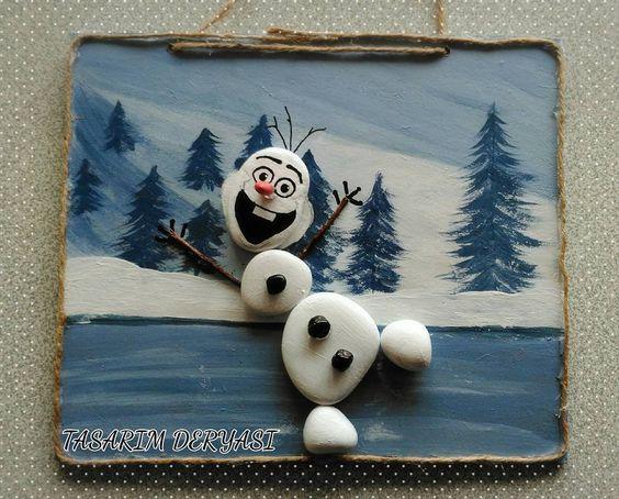 Χριστουγεννιάτικη ζωγραφική σε πέτρες και βότσαλα6