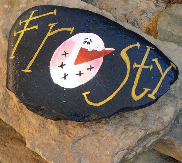 Χριστουγεννιάτικη ζωγραφική σε πέτρες και βότσαλα93