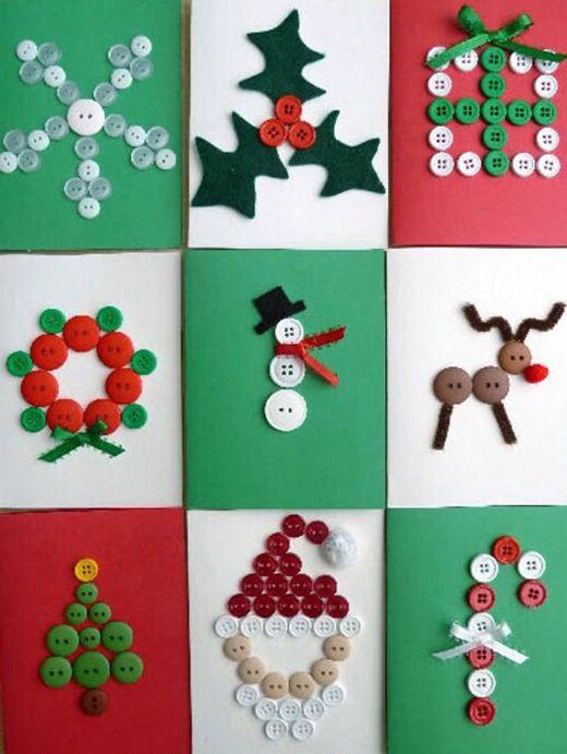 DIY κατασκευές από κουμπιά για τα Χριστούγεννα24