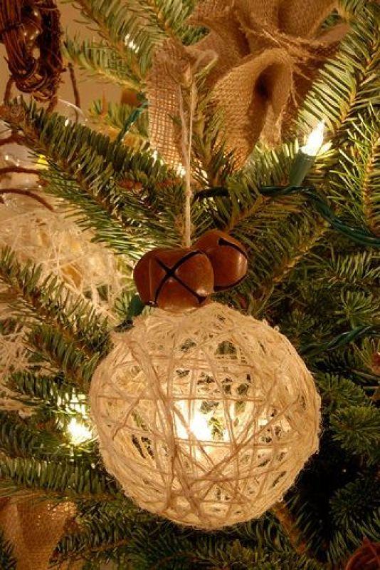 Χριστουγεννιάτικα στολίδια από σπάγκο13