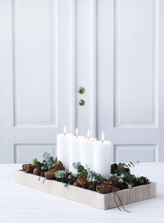 Χριστουγεννιάτικη διακόσμηση με κεριά20
