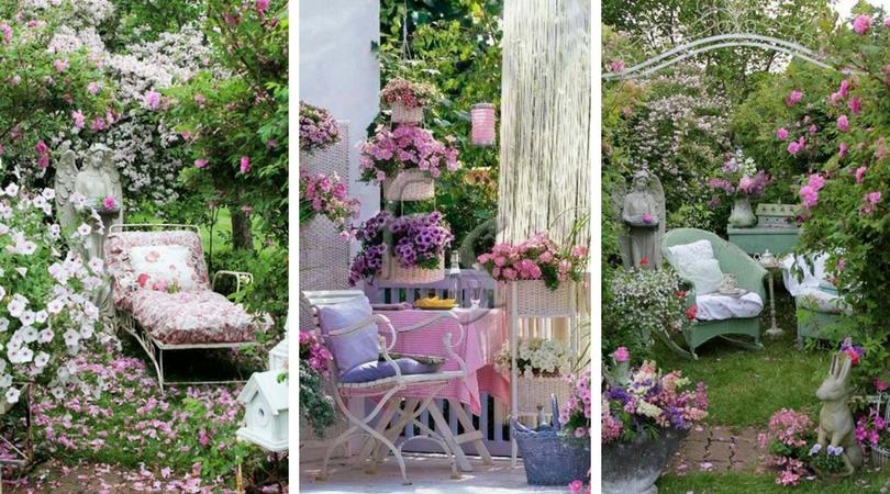 17 Υπέροχες Shabby Chic ιδέες κήπου για ρομαντική αίσθηση