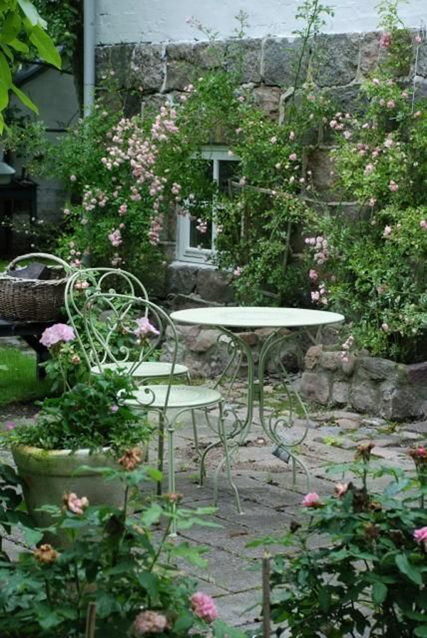 Shabby Chic ιδέες κήπου17
