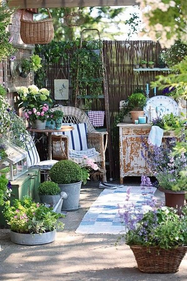 Shabby Chic ιδέες κήπου9