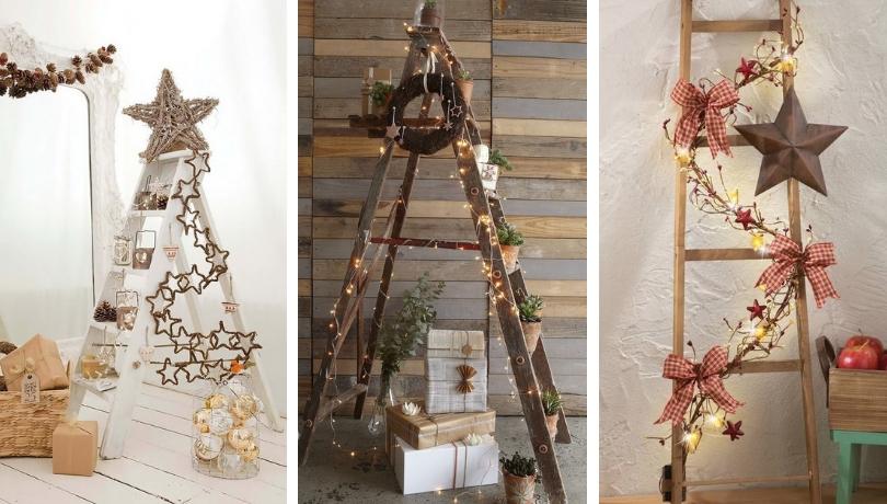 Απίθανες και μοδάτες ιδέες για να διακοσμήσετε τα Χριστούγεννα με σκάλες