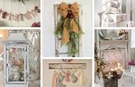 Υπέροχες νοσταλγικές Shabby Chic ιδέες Χριστουγεννιάτικης διακόσμησης