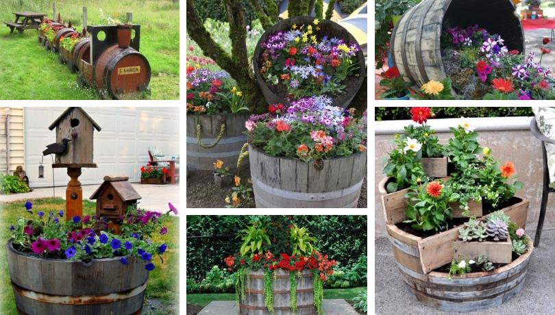 Έξυπνες δημιουργικές DIY ιδέες από παλιά βαρέλια κρασιού  για τον κήπο