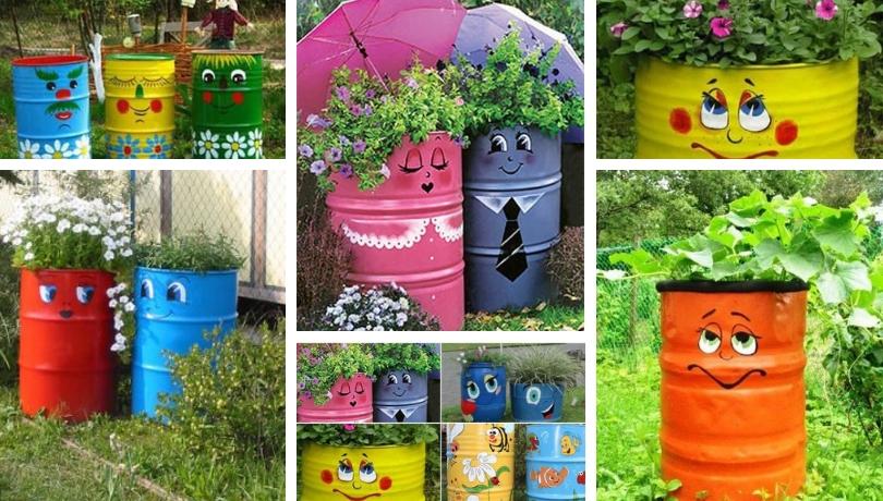 Κεφάτες DIY ιδέες διακόσμησης κήπου με παλιά βαρέλια
