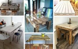 Φανταστικά DIY τραπέζια τραπεζαρίας από παλέτες που θα εμπνεύσουν τη δημιουργικότητα σας