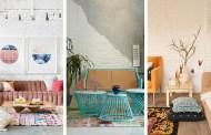 Μοντέρνες εκλεκτικές ιδέες σαλονιών με τούβλα - Chic συρροή χρώματος και μοτίβων που συναρπάζουν