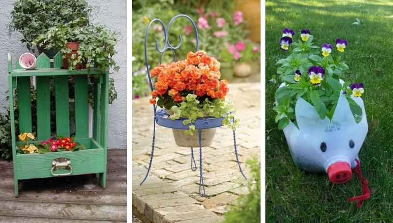 Διακόσμηση κήπου με ανακύκλωση παλιών αντικειμένων - 62 χρήσιμες και δημιουργικές κατασκευές για να ανανεώσετε το εξωτερικό σας