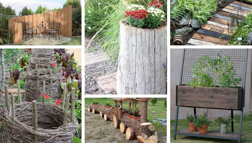 37 Κορυφαίες ιδέες διακόσμησης από  ξύλο για την αυλή και τον κήπο