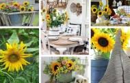 22 Φανταστικές ιδέες Φθινοπωρινής διακόσμησης με ηλιοτρόπια