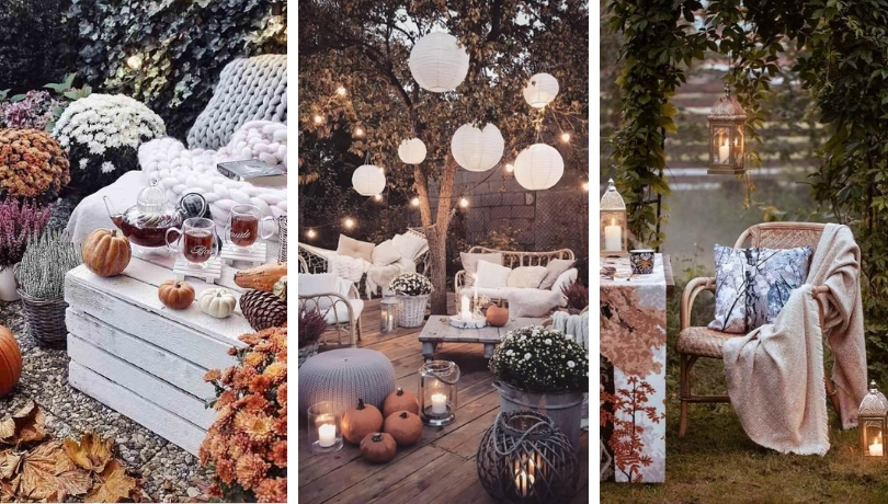 Διακοσμήστε τη βεράντα ή την αυλή σας για το φθινόπωρο με έντονα χρώματα λουλούδια και αξεσουάρ
