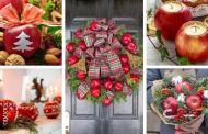 30 Δελεαστικές και όμορφες ιδέες διακόσμησης Χριστουγέννων με μήλα