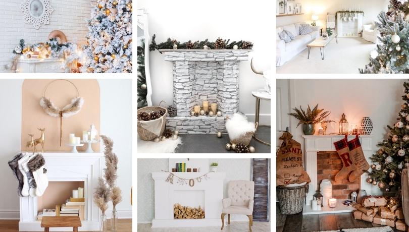 DIY Χριστουγεννιάτικα τζάκια από χαρτόνι ή ξύλο παλέτας και πολλές ζεστές ιδέες για να διακοσμήσετε το σπίτι σας