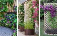 Λουλούδια τοποθετημένα κάθετα, σαν ένα εντυπωσιακό κρεβάτι - 36 DIY ιδέες που θα απογειώσουν την αυλή και τον κήπο σας