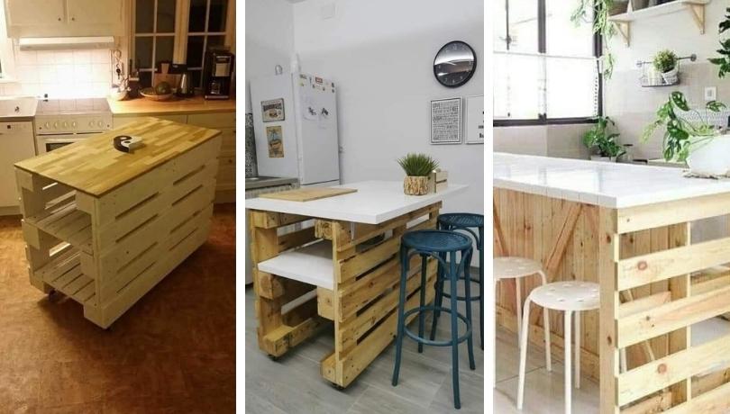 Πως να κάνετε μια νησίδα κουζίνας με λίγες ξύλινες παλέτες - 20+ φανταστικές ιδέες έμπνευσης