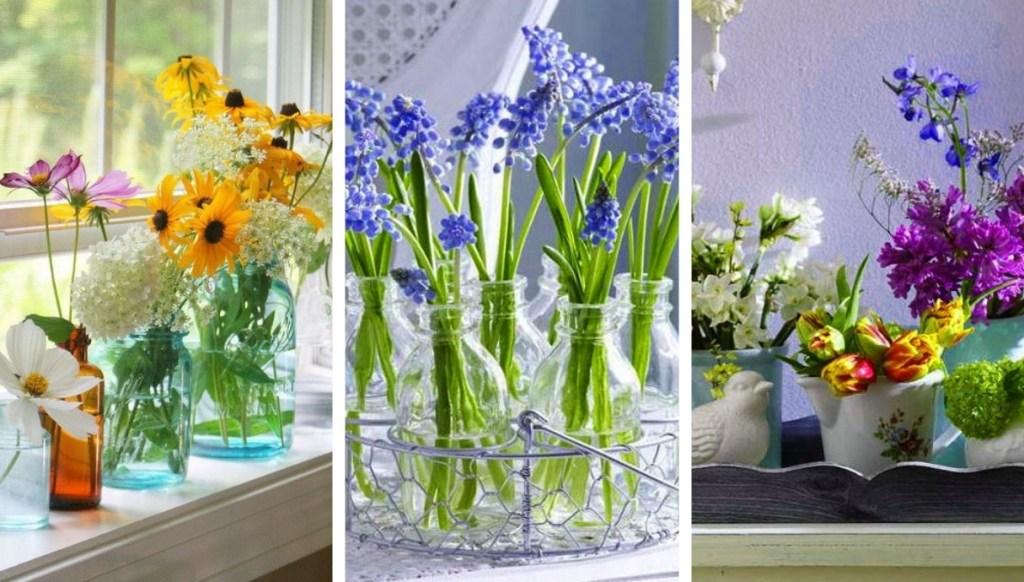 22 Υπέροχες ιδέες με DIY βάζα και ανθοσυνθέσεις για να φέρετε την άνοιξη στο σπίτι σας