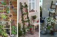 22 καταπληκτικές ιδέες για ανοιξιάτικη διακόσμηση με μια παλιά σκάλα