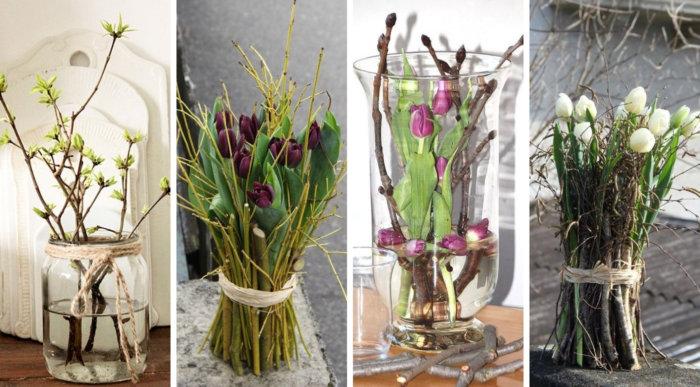 Βάζα, κλαδιά και λουλούδια - 22 DIY ιδέες για πανέμορφες ανοιξιάτικες διακοσμήσεις