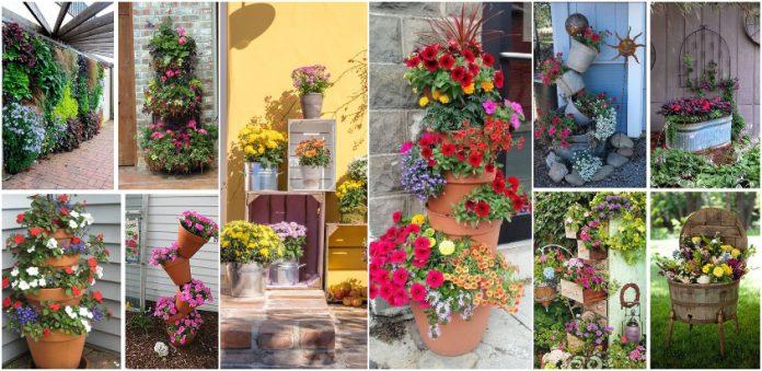 Οι πιο όμορφες συνθέσεις λουλουδιών με παλιά πράγματα για τους καλύτερους εξωτερικούς χώρους της γειτονιάς