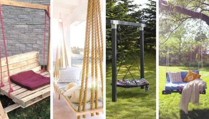 DIY κούνια στον κήπο: 37 ιδέες για τις πιο καλοκαιρινές διακοπές