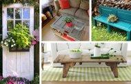 27 Δημιουργικές ιδέες για την μετατροπή παλαιών πορτών σε φανταστικά διακοσμητικά αντικείμενα για το σπίτι σας