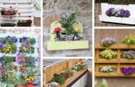 Εμπνευστείτε από αυτές τις 22 ιδέες για όμορφες DIY βάσεις και γλάστρες λουλουδιών από παλέτες