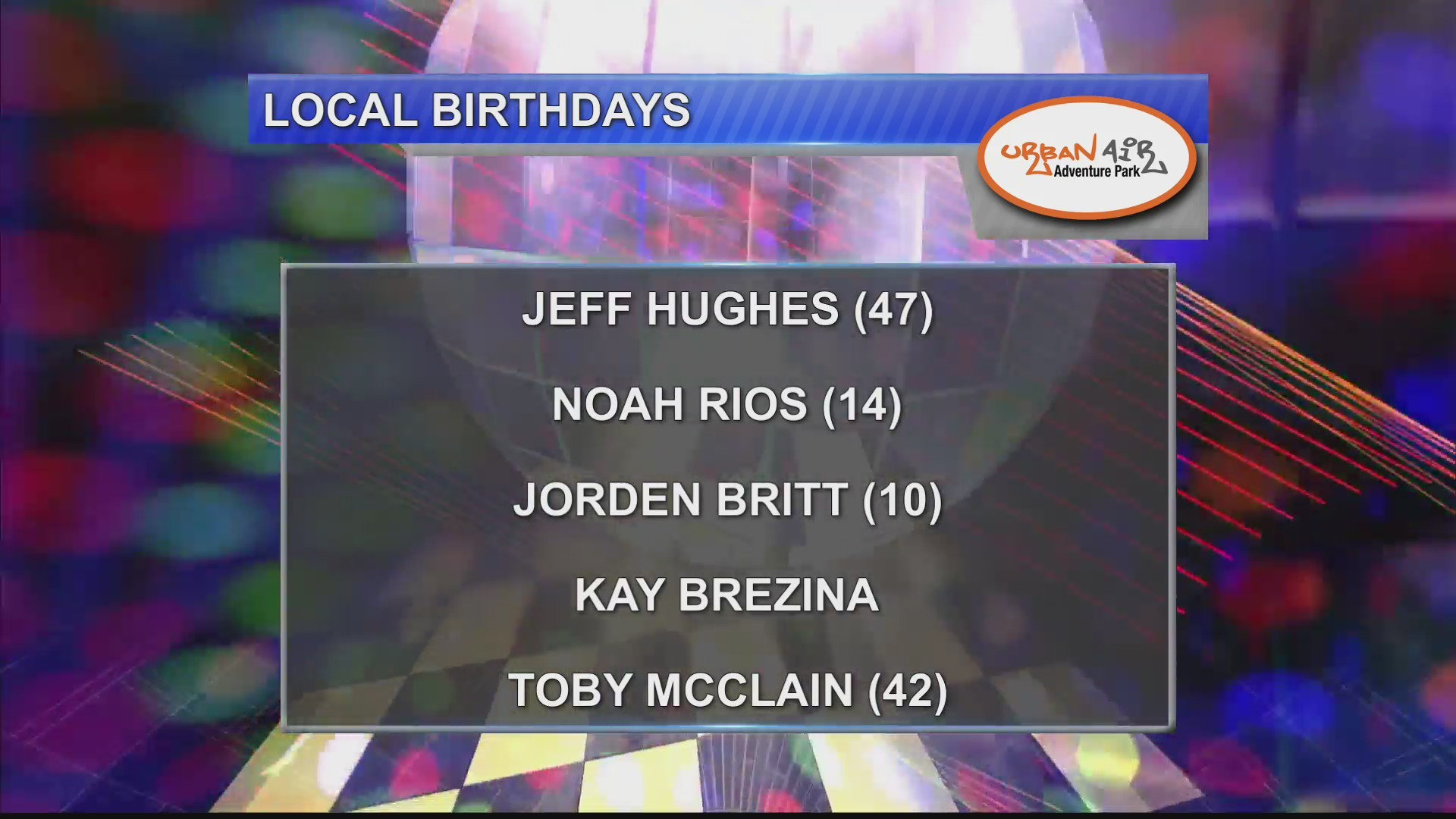 Birthdays & Anniversaries 9/28/18