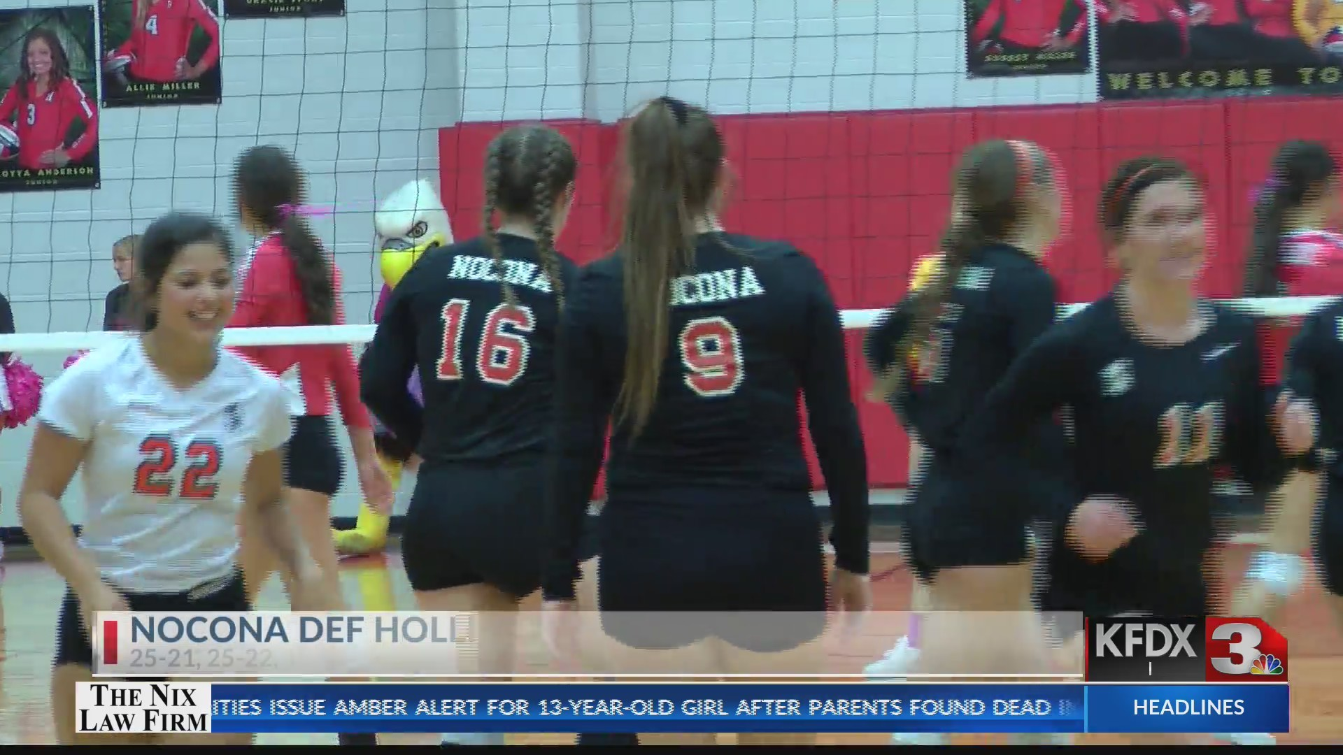 High School Volleyball: Nocona at Holliday
