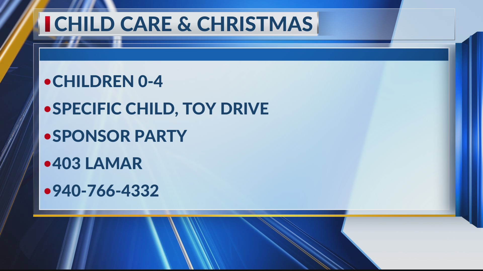 Child Care & Christmas