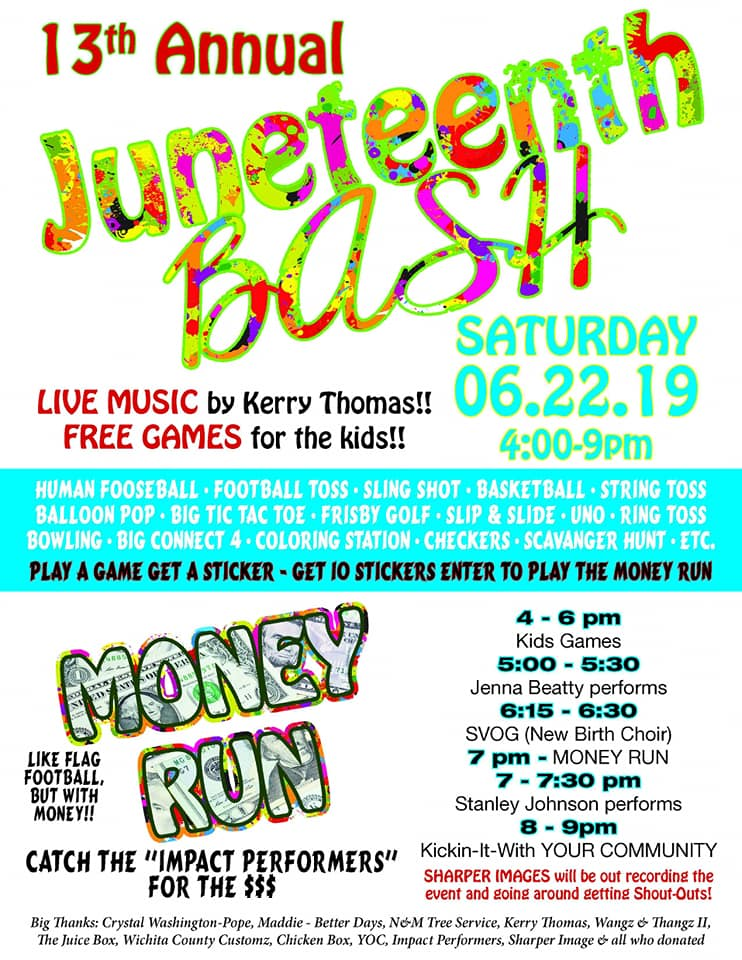 """If you're looking for some real fun this weekend, coordinators are hoping to """"bring back the love"""" with the 13th annual Juneteenth bash that kicks off at 4:00 Saturday."""