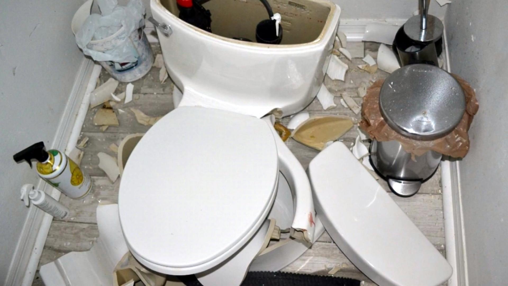 Bathroom blast: Lightning strike explodes toilet