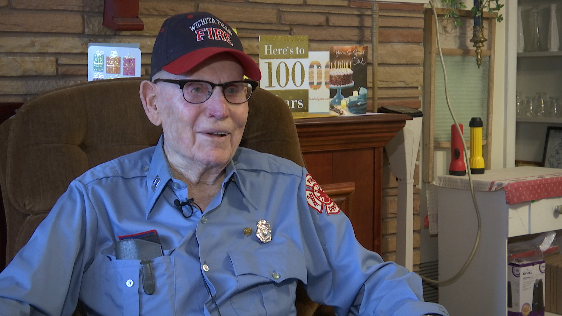 One Wichita Falls veteran is looking on the bright side as he celebrates a major milestone.