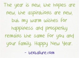 new year message 2
