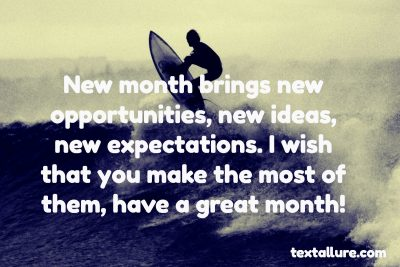 new month new opportunities