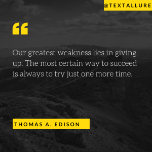 motivational say by Thomas Edison