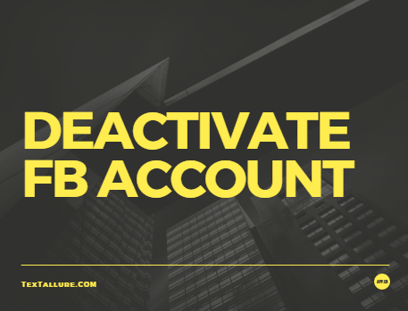deactivate fb account