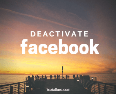 deactivaate facebook steps