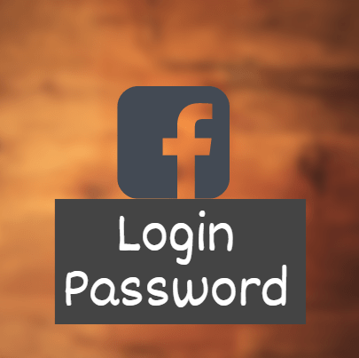 facebook login password