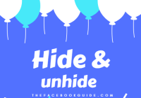 hide and unhide facebook posts