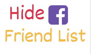 hide fb friend list